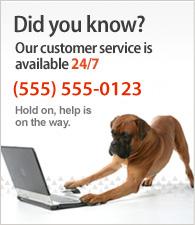 Il nostro servizio clienti è disponibile 24/7. Chiamaci al (555) 555-0123.