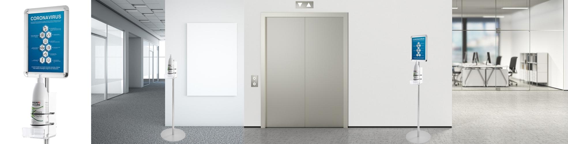 Porta dispenser per igienizzanti