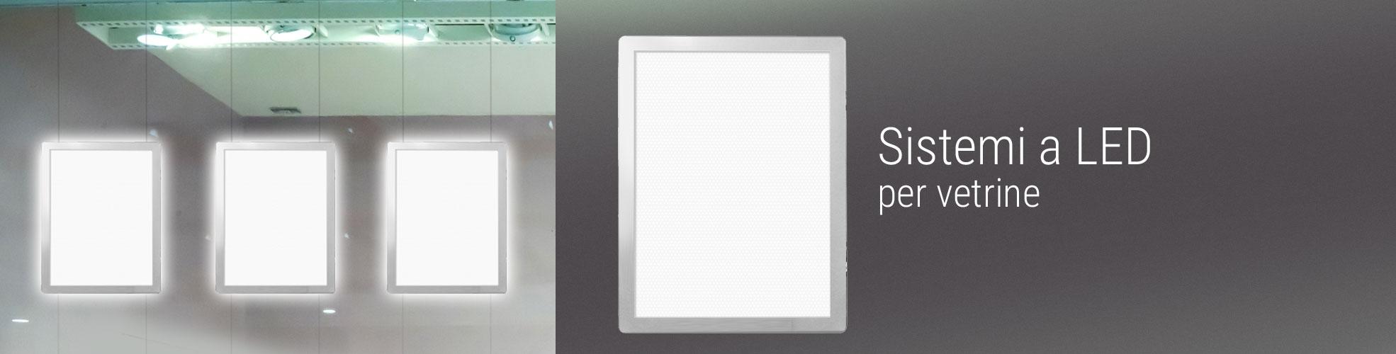 Cornici LED per vetrina