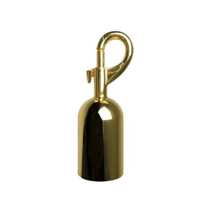 Moschettone finitura colore gold/ottone per cordone