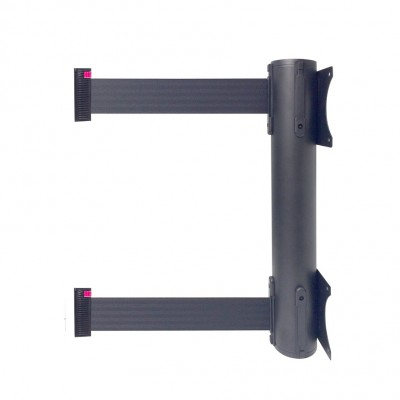 Avvolgitore attacco a muro con doppio nastro nero L = 3 metri
