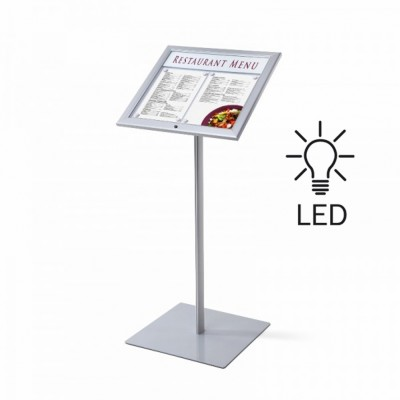Bacheca LED autoportante a leggio f.to 2/A4