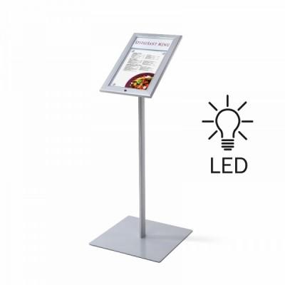Bacheca LED autoportante a leggio f.to A4