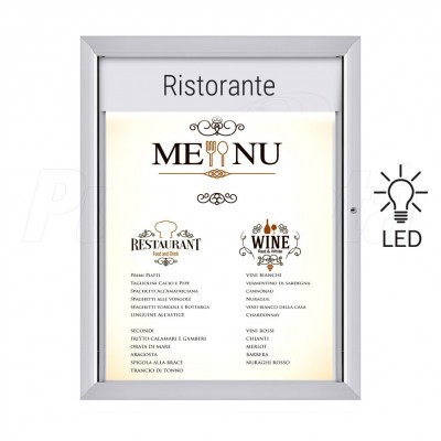 Porta menu luminoso bacheca a LED
