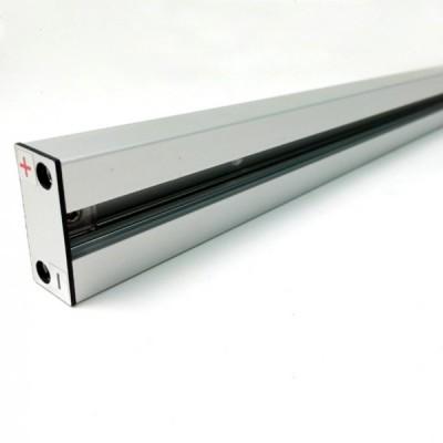 Barra elettrificata in alluminio anodizzato L= 1 metro