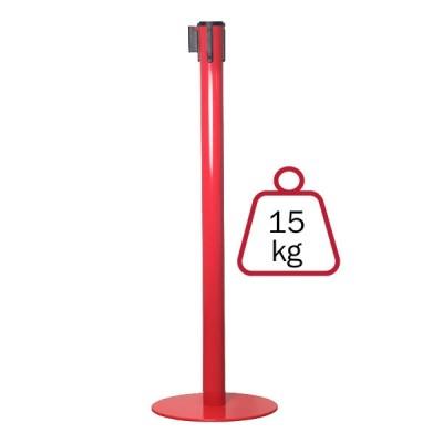 Colonnina segnapercorso ROSSA, 15 kg., inclusa di nastro 3 mt.