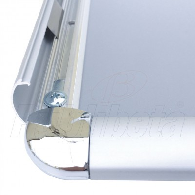 Cornice a scatto A2 angolo tondo profilo 25 mm