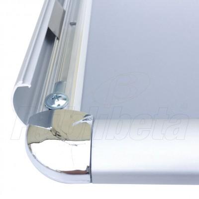 Cornice a scatto A1 angolo tondo profilo 25 mm