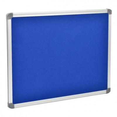Lavagna in feltro blu, da parete, per ufficio