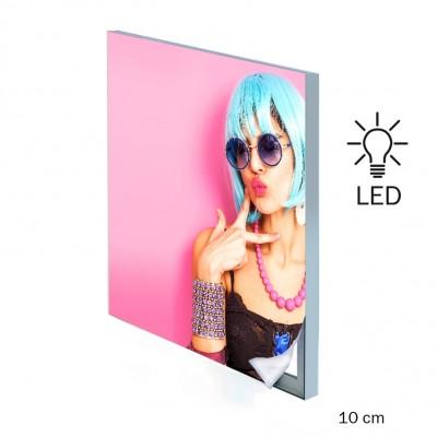 cornici profilo di alluminio pannello pubblicitario a muro led