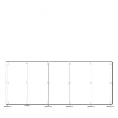 Parete divisoria pannello divisorio in plexiglass 5x2 mt