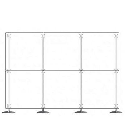 Parete divisoria pannello divisorio 3x2 plexiglass