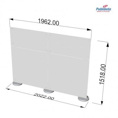 Parete divisoria in plexiglass 2x1,5