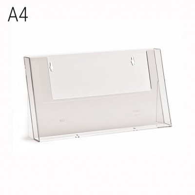 Porta depliant da banco a 1 tasca formato A4 orizzontale