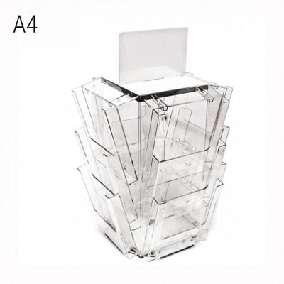 Portadepliant da banco girevole 12 tasche formato A4