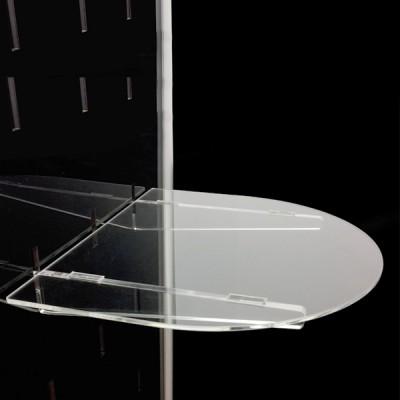 Ripiano sagomato a mezzaluna – 36×31 cm