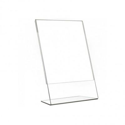 Porta avviso inclinato A5 VERTICALE, spessore 2 mm
