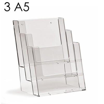 Porta depliant A5 con 3 tasche
