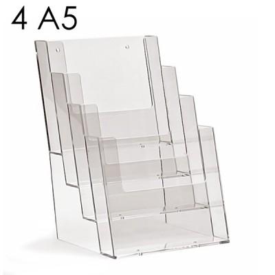 Porta depliant A5 con 4 tasche