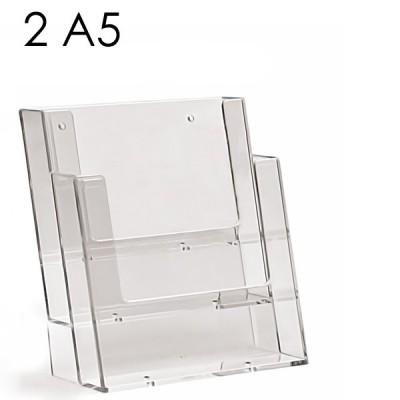 Portadepliant da parete 2 tasche A5