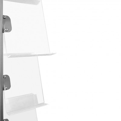 Espositore portadepliant con 9 ripiani plexi formato A4