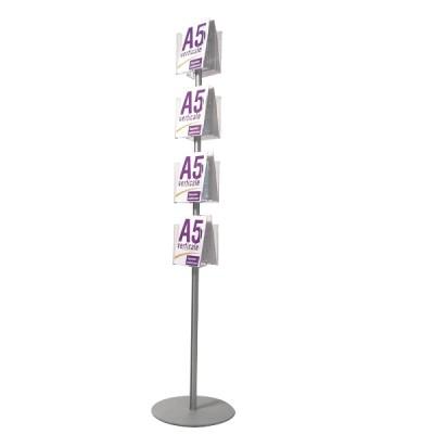 Espositore portadepliant bifacciale a 8 tasche A5