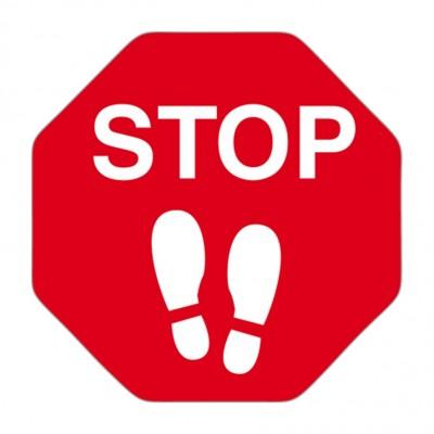Adesivo calpestabile segnale di stop