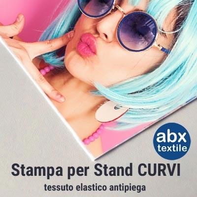 Stampa tessuto elastico antipiega per Stand portatili CURVI - ABX