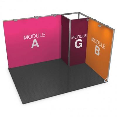 Stand portatile modulare con stanzino