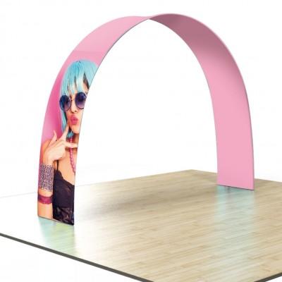 Stand portatile a forma di arco