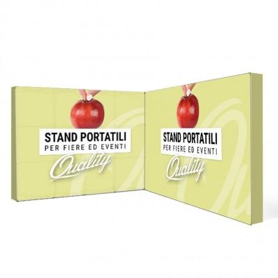 Stand portatile per fiera 4x4