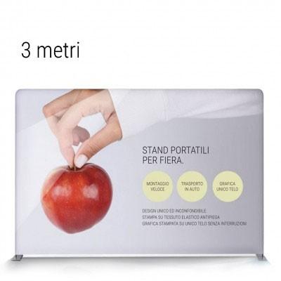 stand portatile per fiera dritto