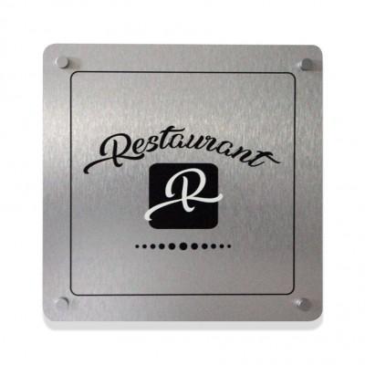 targhe in alluminio personalizzate quadrate