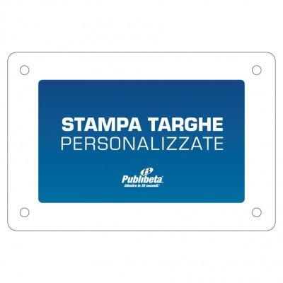 targhe personalizzate in alluminio con distanziali