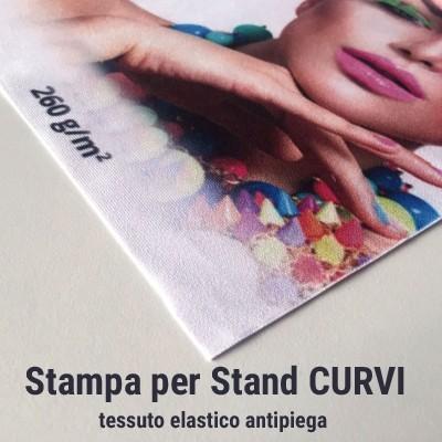 Stampa tessuto elastico antipiega per Stand portatili CURVI