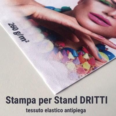 Stampa tessuto elastico antipiega per Stand portatili DRITTI