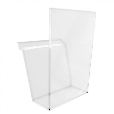 porta cataloghi in plexiglass da parete vaschetta