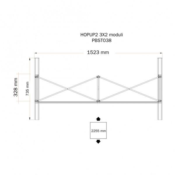Stand portatile componibile HOPUP 3x2
