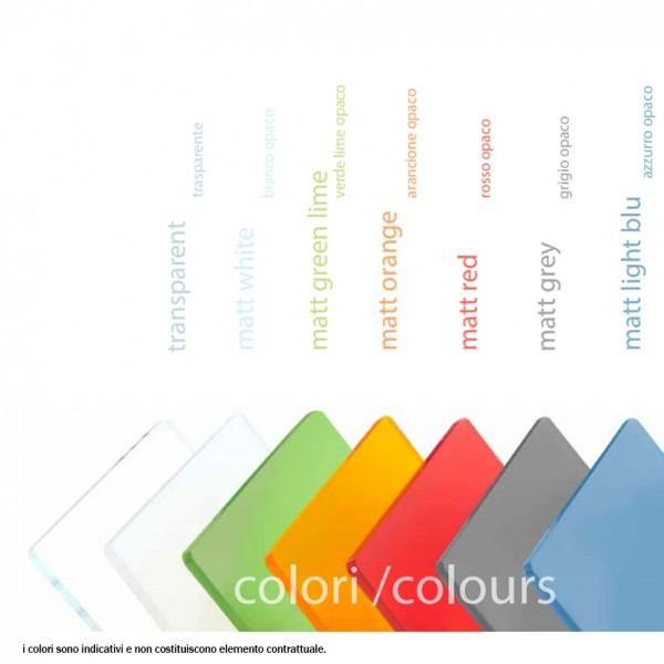 pannelli plexi trasparenti e colorati