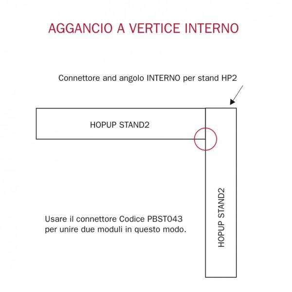 Connettore and angolo INTERNO per stand HP2