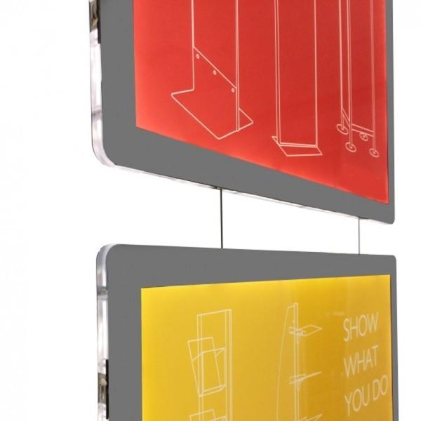 CornicI Luminose a LED per vetrine