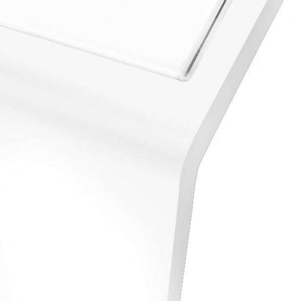 Espositore leggio in metallo bianco