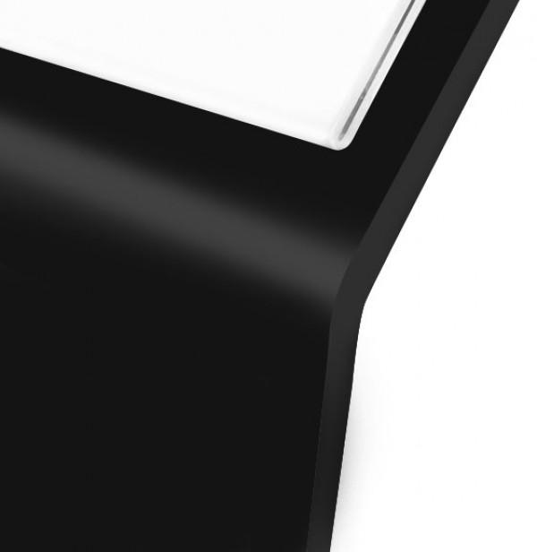Espositore leggio in metallo nero