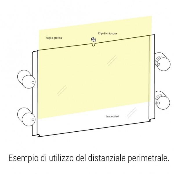 Distanziale perimetrale cromato lucido