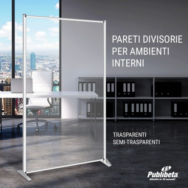 profilo pannello divisorio in plexiglass