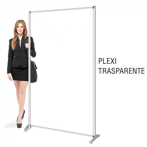 profilo pannello divisorio in plexiglass trasparente