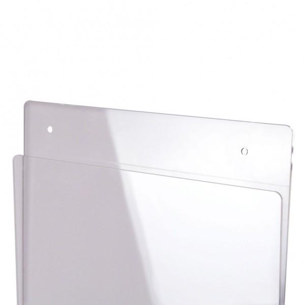 Tasca portavvisi in acrilico trasparente
