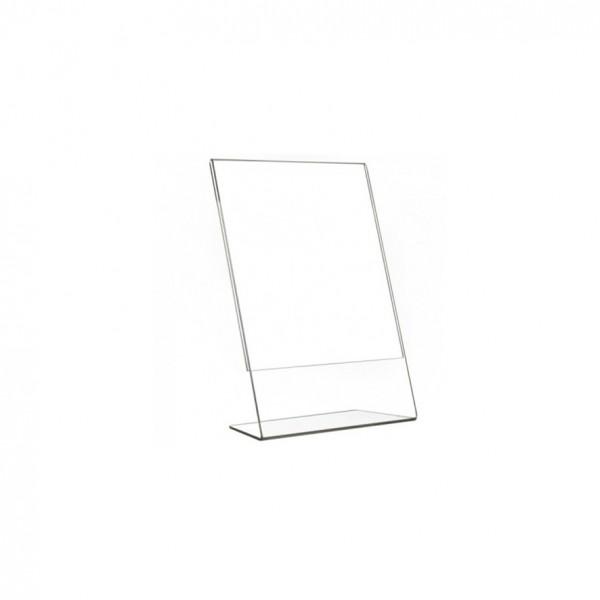 Porta avviso inclinato 10 x15 cm VERTICALE