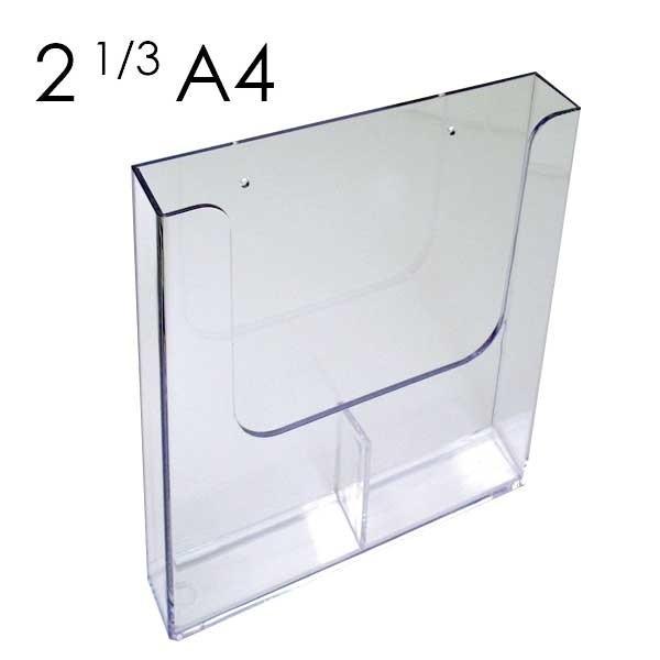 Porta depliant 1/3 A4, con due tasche affiancate