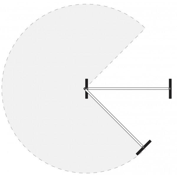 Pannello divisorio doppio magnetico